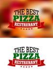 Bandera italiana de la pizza Fotos de archivo libres de regalías