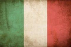 Bandera italiana del grunge Fotos de archivo