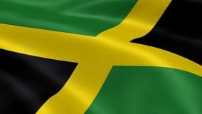 Bandera jamaicana en el viento libre illustration