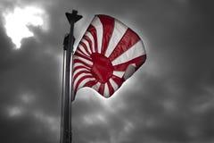 Bandera japonesa del sol naciente de la marina de guerra foto de archivo libre de regalías