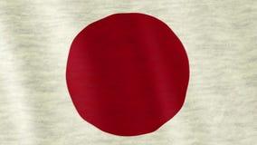 Bandera japonesa que sopla en el viento almacen de video