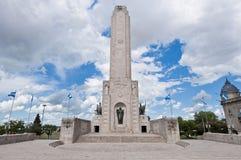 bandera la找出monumento罗萨里奥 免版税库存图片