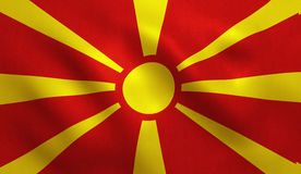 Bandera la FYROM de Macedonia Imagenes de archivo