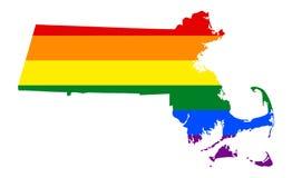 Bandera lesbiana, homosexual, bisexual, y del transexual de LGBT del orgullo libre illustration