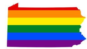 Bandera lesbiana, homosexual, bisexual, y del transexual de LGBT del orgullo stock de ilustración