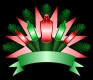 Bandera ligera del día de fiesta Imagen de archivo libre de regalías