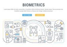 Bandera linear de la biométrica stock de ilustración