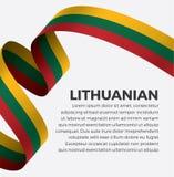 Bandera lituana para decorativo Fondo del vector fotografía de archivo libre de regalías