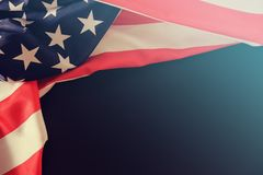 Bandera los E.E.U.U. americanos nosotros patriota, rayas imagen de archivo libre de regalías