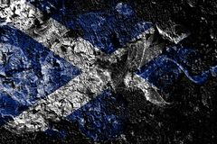 Bandera mística ahumada de Escocia en el viejo fondo sucio de la pared libre illustration