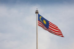 Bandera malasia Fotos de archivo libres de regalías