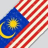 Bandera malasia del grunge Ilustración del vector stock de ilustración