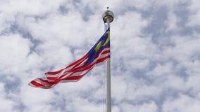 Bandera malasia almacen de video