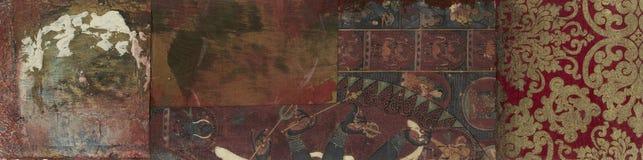 Bandera marrón abstracta stock de ilustración