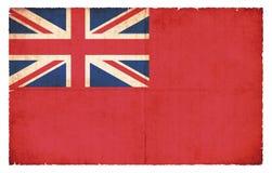 Bandera mercantil de la bandera roja de la bandera de Gran Bretaña Foto de archivo libre de regalías