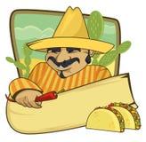 Bandera mexicana de la cocina Imagen de archivo