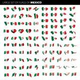Bandera mexicana, ejemplo del vector Fotos de archivo libres de regalías