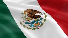 Bandera mexicana en el viento libre illustration