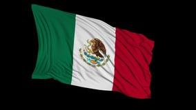 Bandera mexicana en la cámara lenta La bandera se convierte suavemente en el viento libre illustration