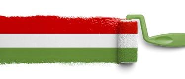Bandera mexicana pintada Foto de archivo libre de regalías