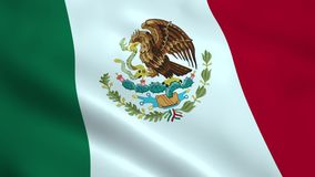 Bandera mexicana realista libre illustration