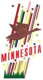 Bandera Minnesota para la presentación ilustración del vector