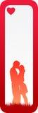 Bandera mínima del amor Imagen de archivo libre de regalías