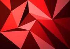 Bandera moderna con el modelo poligonal del color rojo imágenes de archivo libres de regalías