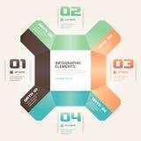 Bandera moderna de Infographics de las opciones del número de estilo de la papiroflexia libre illustration