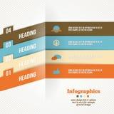 Bandera moderna de las opciones de la papiroflexia del negocio Imagenes de archivo