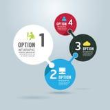 Bandera moderna de las opciones del diseño del infographics libre illustration