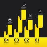 Bandera moderna de las opciones del diseño del infographics Ilustración del vector libre illustration
