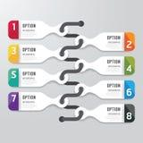 Bandera moderna de las opciones del diseño del infographics Ilustración del vector ilustración del vector