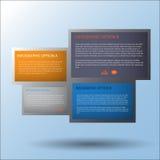 Bandera moderna de las opciones del estilo de la esfera económica vector/ejemplo Fotos de archivo libres de regalías