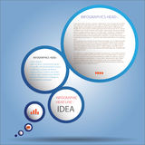 Bandera moderna de las opciones del estilo de la esfera económica vector/ejemplo Imagenes de archivo