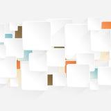 Bandera moderna de las opciones del estilo de la flecha de la papiroflexia stock de ilustración
