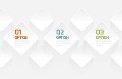 Bandera moderna de las opciones del estilo de la papiroflexia ilustración del vector