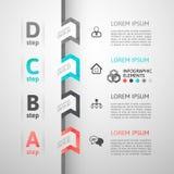 Bandera moderna de las opciones del estilo de la papiroflexia del paso del negocio Fotografía de archivo