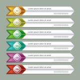 Bandera moderna de las opciones del infographics. stock de ilustración