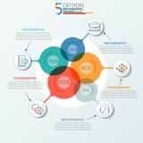 Bandera moderna de las opciones del infographics stock de ilustración
