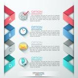 Bandera moderna de las opciones del infographics Imagenes de archivo