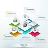Bandera moderna de las opciones del infographics ilustración del vector