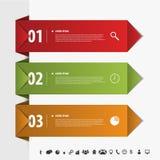 Bandera moderna del estilo de la papiroflexia del elemento del infographics Vector