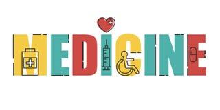 Bandera moderna del vector médico Imagenes de archivo
