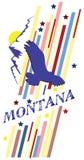 Bandera Montana ilustración del vector
