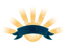 Bandera/muestra de la sol Fotos de archivo