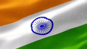 bandera nacional altamente detallada 4k de la India stock de ilustración