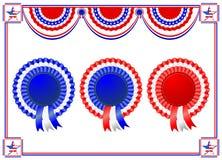 Bandera nacional americana brillante que agita para el cuarto de julio Fotos de archivo libres de regalías