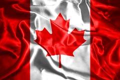 Bandera nacional canadiense Imagenes de archivo