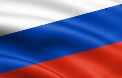 Bandera nacional colorida que agita de Rusia libre illustration
